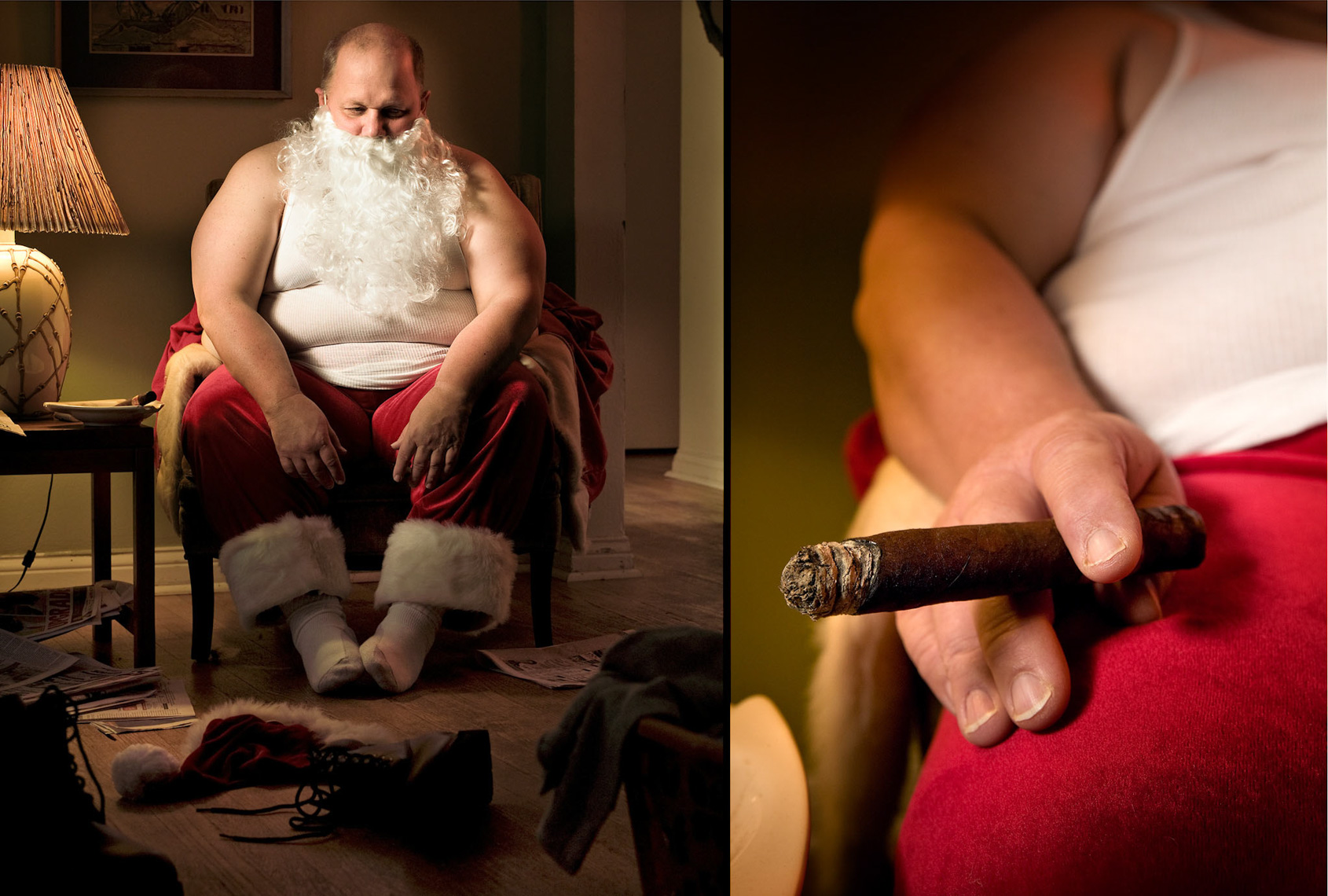 080326-044.drn Real Santa portrait, shot by Steven P. Widoff, editorial, lifestyle and advertising commercial photographer in Tampa, Florida.